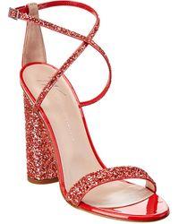 Giuseppe Zanotti Glitter Leather Sandal - Red