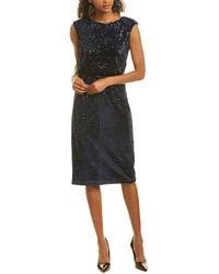 Maggy London Sheath Dress - Blue