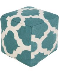 """Surya """"ruby"""" Hand-made Pouf - Multicolor"""
