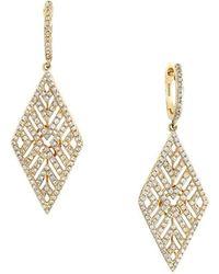 Effy - Doro 14k Yellow Gold Diamond Drop Earrings - Lyst