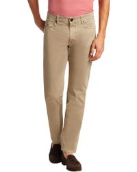Luciano Barbera - Solid Cotton Stretch Trousers - Lyst