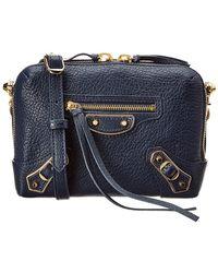 7185d4369 Balenciaga Classic Metallic Edge City Mini Textured-leather Shoulder Bag in  Black - Lyst