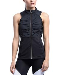Zobha Double Layer Vest - Black