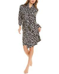 N Natori Ombre Leopard Robe - Black