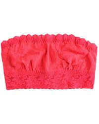 Hanky Panky Signature Lace Strapless Bandeau Bra - Pink