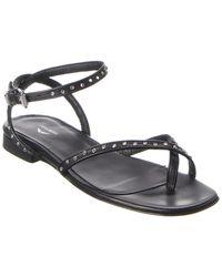 Zadig & Voltaire Paros Leather Sandal - Black