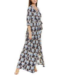 Melissa Masse Brushed Luxe Jersey Wrap Dress - Blue