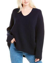 The Row Angela Wool & Cashmere-blend Jumper - Blue