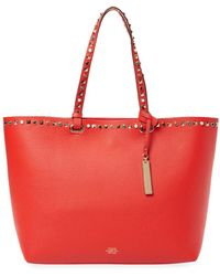 Vince Camuto - Tysa Studded Leather Tote - Lyst