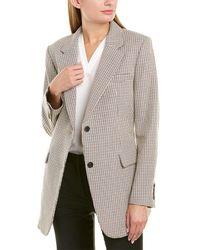 Theory Super Cinch Wool-blend Blazer - White
