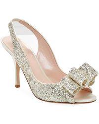 Kate Spade Charm Sparkle Sandal - Metallic
