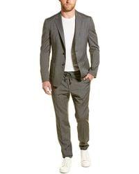 Ermenegildo Zegna Z Zenga Techmerino Wash&go 2pc Wool Suit With Flat Pant - Grey