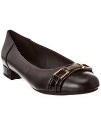 Geox Wistrey 22 Leather Flat - Black