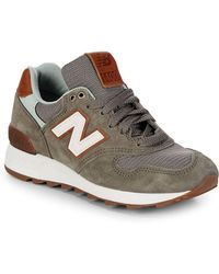 New Balance - Miusa Round Toe Lace-up Trainers - Lyst