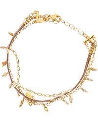 Chan Luu 18k Over Silver Gemstone & Mother-of-pearl Bracelet - Metallic