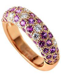 Cartier - Cartier 18k Rose Gold Sapphire Ring - Lyst