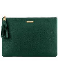 Gigi New York Leather Uber Clutch - Green