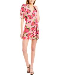 The Kooples Pivoine In Love Silk Wrap Dress - Pink