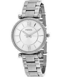 Fossil Women's Carlie Watch - Metallic