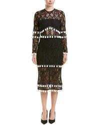 Alexis Midi Dress - Black