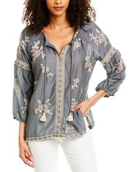 Johnny Was Sophia Peasant Blouse - Blue