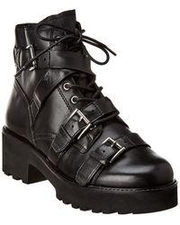 Ash Razor Leather Boot - Black