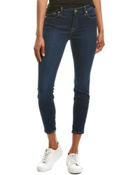 7 For All Mankind Gwenevere La Dark Ankle Cut - Blue