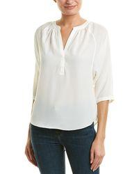 Joie Raglan-sleeve Pleated Top - White