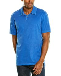 James Perse Revised Standard Polo Shirt - Blue