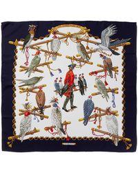 """Hermès """"les Oiseaux Du Roy,"""" By Caty Latham Silk Scarf - Multicolour"""