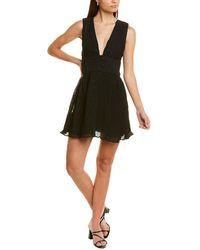 La Maison Talulah Pleated A-line Dress - Black