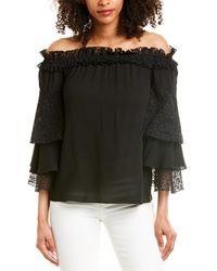 Michael Kors Silk Top - Black