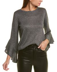 MILLY Shimmer Sweater - Grey