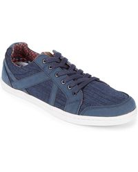 Ben Sherman - Round Toe Denim Trainers - Lyst