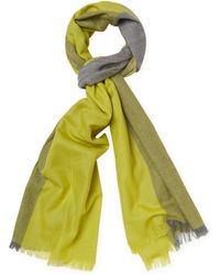 "Badgley Mischka Lightweight Colorblock Merino Wool Long Scarf, 82"" X 32"" - Multicolour"