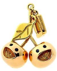 Louis Vuitton Louis Vuitton 18 K Limited Edition Cherry Charm - Metallic