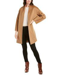 Vince Reversible Wool & Cashmere-blend Coat - Brown