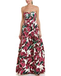 MILLY Ava Gown - Red