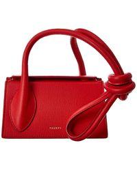 Yuzefi Tortilla Mini Leather Shoulder Bag - Red