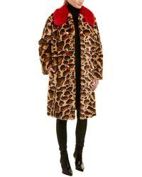 Dolce & Gabbana Leopard Print Coat - Brown