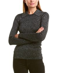 Diane von Furstenberg Colette Wool-blend Top - Black