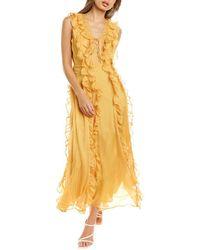 Endless Rose Midi Dress - Yellow