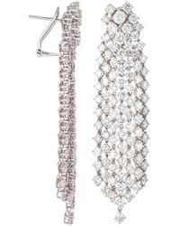 Diana M. Jewels . Fine Jewellery 18k 17.40 Ct. Tw. Diamond Earrings - Multicolour