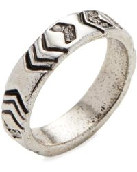 House of Harlow 1960 - Silver-tone Echo Crest Midi Ring - Lyst