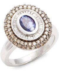 Effy | Diamond & 14k White Gold Ring | Lyst