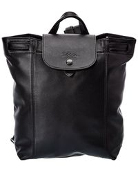 Longchamp - Le Pliage Cuir Leather Backpack - Lyst