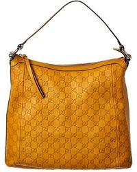 Gucci Yellow Ssima Leather Hobo Bag - Multicolor