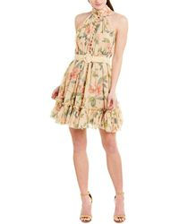 Zimmermann Kirra Silk-blend Mini Dress - Pink