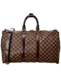 Louis Vuitton Damier Ebene Canvas Keepall 45 Bandouliere - Brown