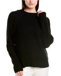 Vince Raglan Wool & Cashmere-blend Hoodie - Black